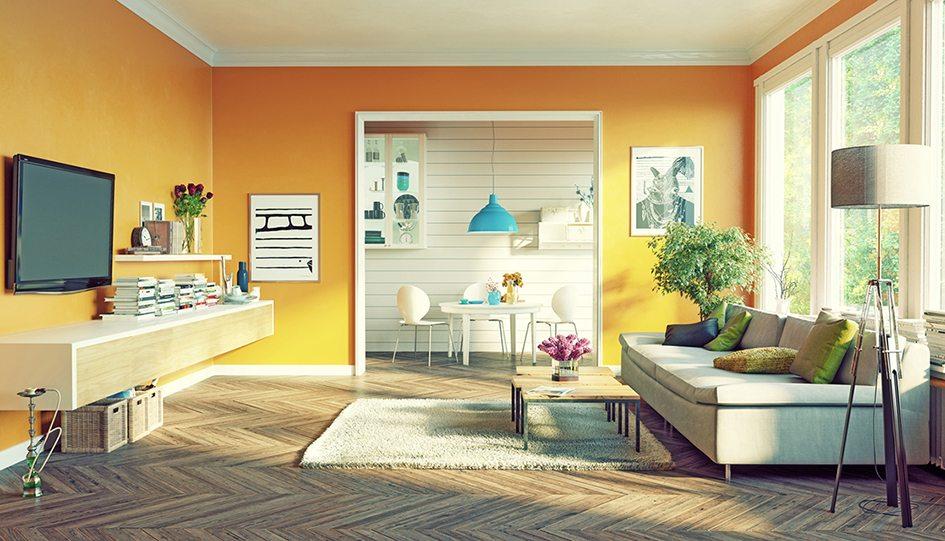 Kleuren geel woonkamer for Feng shui kleuren